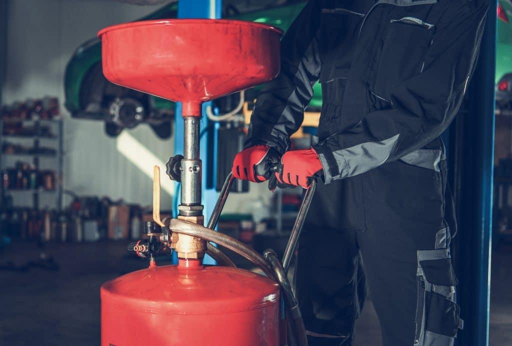 Car Engine Oil Change